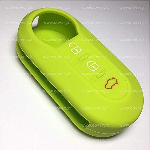 verde mela Cover chiave guscio silicone Fiat 500 L Panda Stilo Grande Punto Bravo Ypsilon COVERY