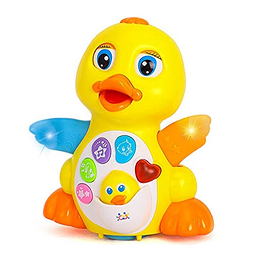 Jogotoll Dancing Duck Baby Toys, Musical Duck Light Walking Singing Educational Gift for Infant Toddlers Girls Boys Kids Yellow