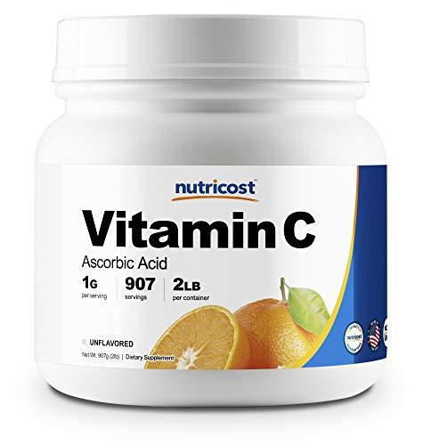 (Nutricost Pure Ascorbic Acid Powder (Vitamin C) 2 LBS - High Quality, Gluten Free, Non-GMO)
