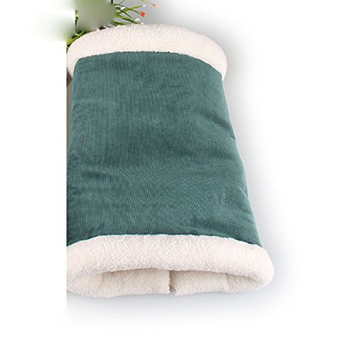 Green L Green L ArMordy(TM) Funny Ring Paper Pet Cat Tunnel House Soft Fleece Winter Warm Cat Kitten Bed House Indoor[ Green L ]