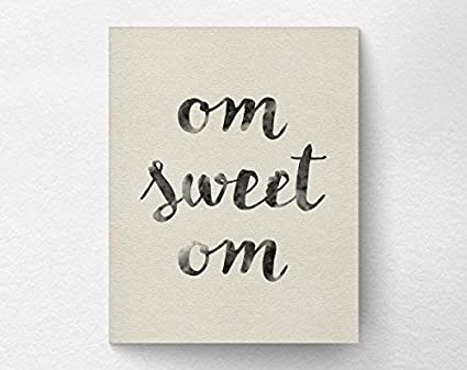Amazon.com: Om Sweet Om Wall Art Print Poster, Yoga ...