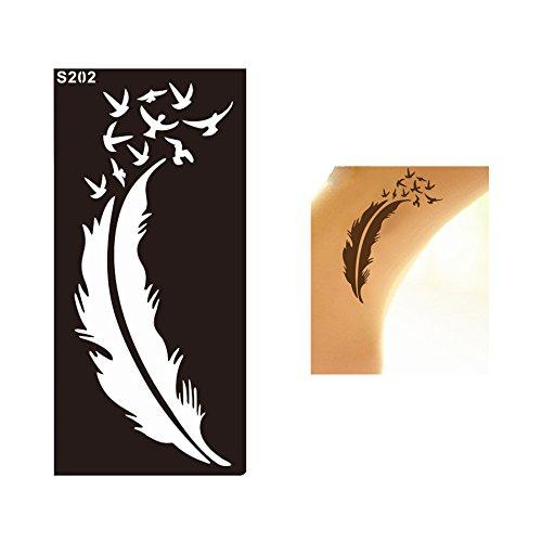 Henna Tatuaje Stencils Plantillas de Mehndi tatuaje de Mehndi Tatuajes de henna S202 - desechable Beyond