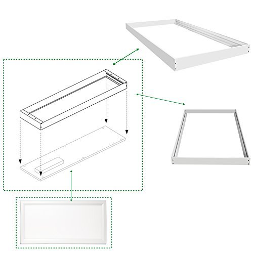 Hykolity Surface Mount Kit for 2x4 FT LED Troffer Flat Panel Drop Ceiling Light