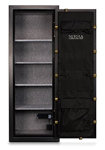 Fire Proof Gun Safe w Solid Metal, Textured Black Finish & 3 Secure Deadbolts (20 in. x 22 in.)