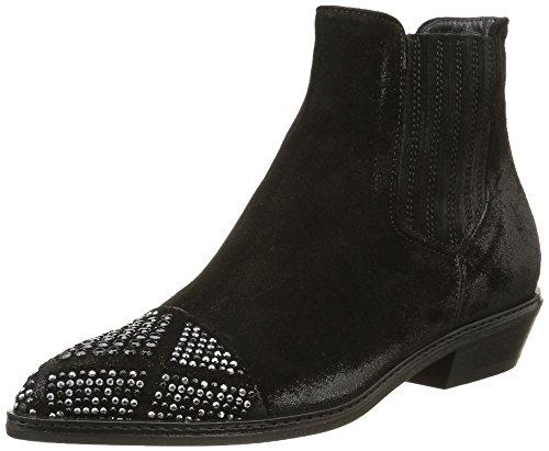 Now Foods Women's 3110 Cowboy Boots Black (Velour Nero Borchie C.fucile Nero) EsuxH7Z