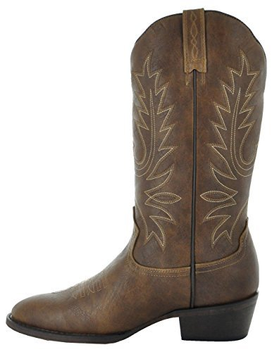 Country Love Boots Round Toe WomenÕs Cowboy Boots W1001-1002 (9.5, Brown)