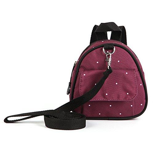 Bebé de la manera fuera del paquete, mini morral de los niños del bebé, bolso de escuela de los niños de los hombros, paquete del padre-niño del anti-laberinto ( Color : Khaki ) Rojo oscuro