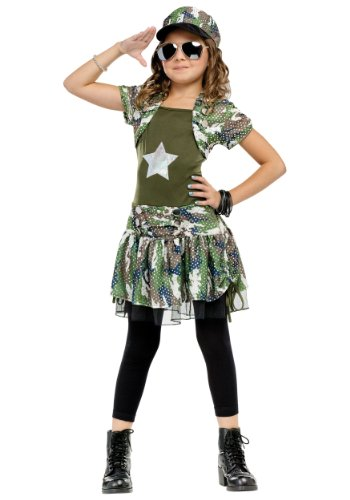 Army Brat Child Costume Size Large (Childrens Silver Star Costume)