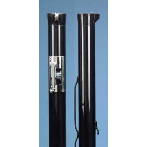 Douglas Premier XS Black Internal Wind Tennis Posts w/ Stainless Steel Gears (Steel Tennis Posts)