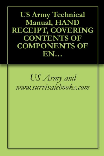 US Army Technical Manual, HAND RECEIPT, COVERING CONTENTS OF COMPONENTS OF END ITEM (COEI), BASIC ISSUE ITEMS (Bll), AND ADDITIONAL AUTHORIZATION LIST ... TM 32-5895-219-14&P-HR, 1981