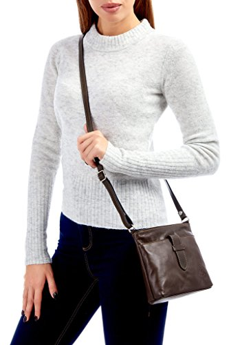 Genuine Fronted Bag Italian Leather Handbag Small or White Soft Shoulder Cross Body Strap rvqrXZx