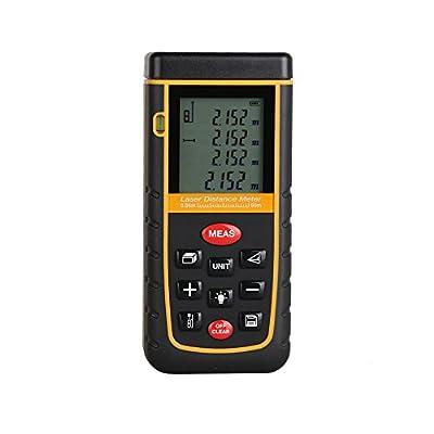 Digital Laser distance meter Bigger Bubble level tool Rangefinder Range finder Tape measure 60m Area/Volume Angle Tester