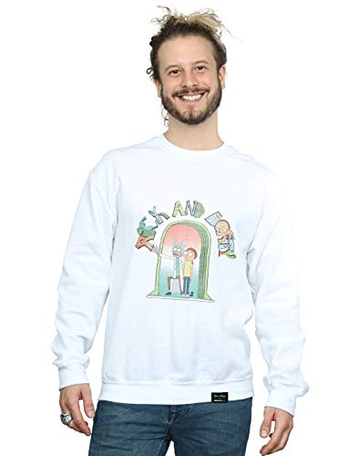 Blanc Absolute Icon Morty And Doors Cult shirt Homme Rick Sweat 4XrRqznr
