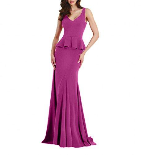 Abendkleider Pink Partykleider mia Promkleider Damen Etuikleider Meerjungfrau La Lang Elegant Fesltichkleider Braut YPxwfp