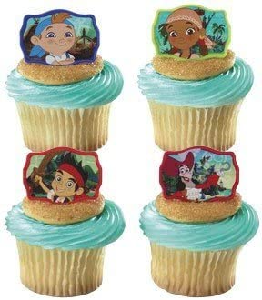 Cool Decopac 12 Jake And The Neverland Pirates Cupcake Cake Rings Party Personalised Birthday Cards Fashionlily Jamesorg