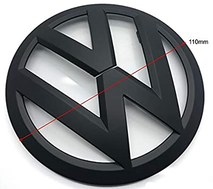 Negro Mate 110mm Trasero Boot Lid Tailgate Trunk Badge Emblema ...