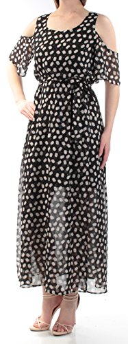 CYNTHIA ROWLEY Womens Black Geometric Tie Blouson Dress S from Cynthia Rowley