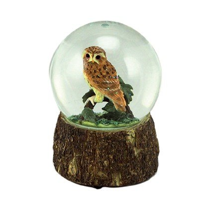 MusicBox Kingdom Owl Glitter Globe Decorative Box by Musicbox Kingdom