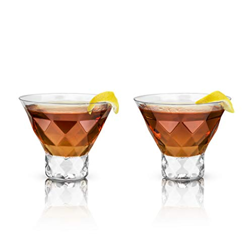 (Viski 5249 Raye Gem Crystal Martini Glasses, Set of 2 )