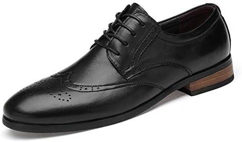 男性用busineesドレス結婚式のファッションローファー滑り止めフラット通気性の丸いつま先レースアップ本革ブローグ彫刻靴 快適な男性のために設計
