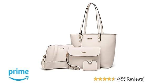 c013df9def Amazon.com  ELIMPAUL Women Fashion Handbags Tote Bag Shoulder Bag Top  Handle Satchel Purse Set 4pcs  Shoes