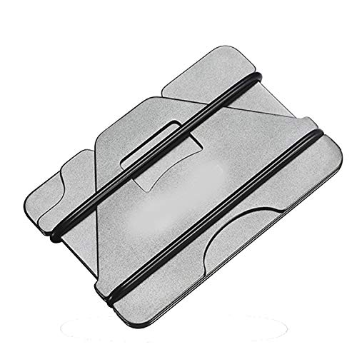 Black Silver Rolodex - Metal Id Credit Card Holder Black Pocket Box Business Cards Wallet With Rfid Anti-Chief Wallet Men,3 Layer Silver