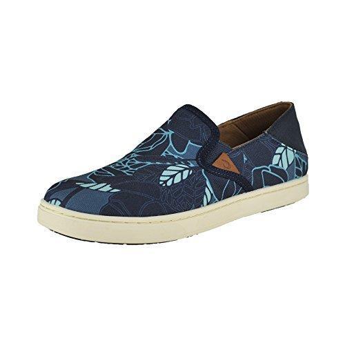 OLUKAI Women's Pehuea Print Trench Blue/Stormy Blue Shoe
