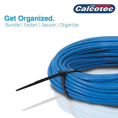 "500 Value Pack of Heavy Duty Zip Ties 4""/6""/8""/10""/12"" | Premium Nylon Cable Ties | UV and Heat Resistant Tie Wraps"