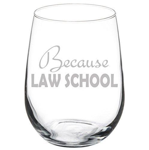 Wine Glass Goblet Because Law School Student Lawyer Paralegal Funny (17 oz Stemless)