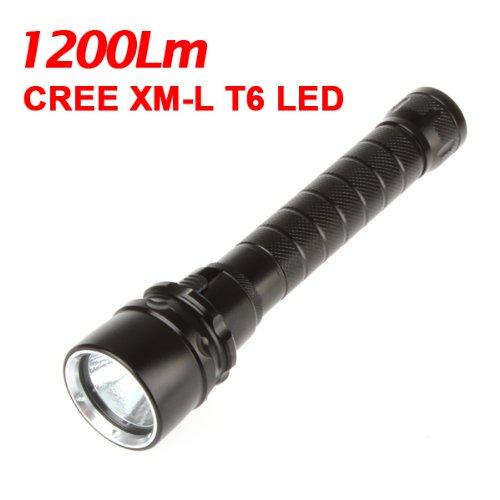1200Lm XM-L T6 LED懐中電灯トーチスキューバダイビングLEDトーチ100 M B0098HRSOM