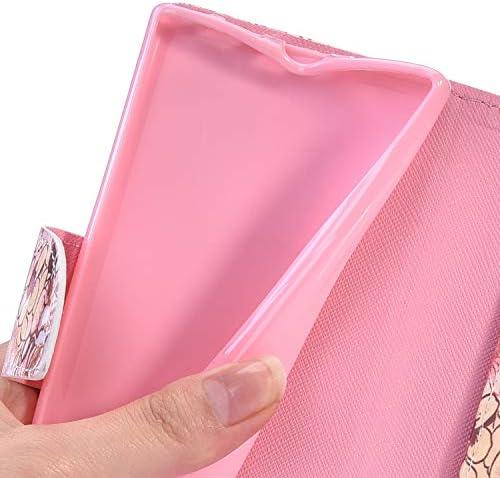 Herbests Kompatibel mit iPhone 11 Hülle Klapphülle Leder Flip Schutzhülle Wallet Handyhülle Bunt Bling Glänzend Glitzer Muster Brieftasche Handytasche Case,Schmetterling