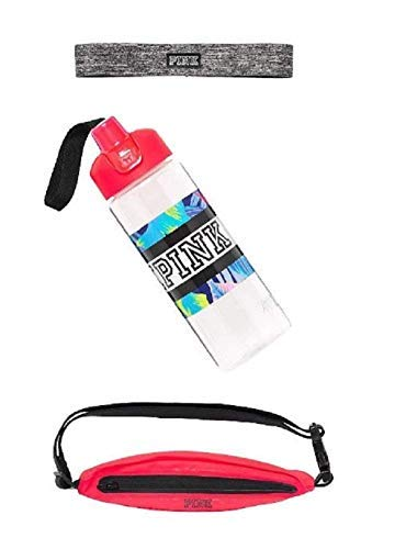 Victoria's Secret PINK Sport Fanny Pack with Water Bottle and Headband (Victorias Secret Love Pink Socks)