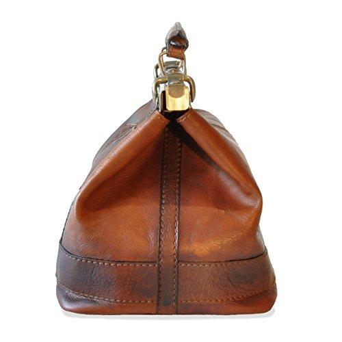 Mucca Di Casciano Pratesi In San Pelle Borsa Bruce Cognac wqRO6g6