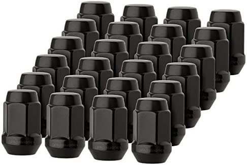 24 PC BUICK BLACK 12x1.5 WHEEL LUG NUTS CONICAL SEAT BULGE ACORN FOR BUICK CARS