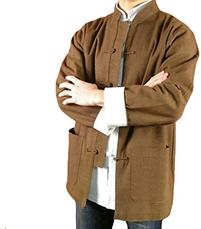 [해외]100% Cotton Brown Kung Fu Martial Arts Tai Chi Jacket Coat XS-XL or Tailor Custom Made + Free Magazine / 100% Cotton Brown Kung Fu Martial Arts Tai Chi Jacket Coat XS-XL or Tailor Custom Made + Free Magazine