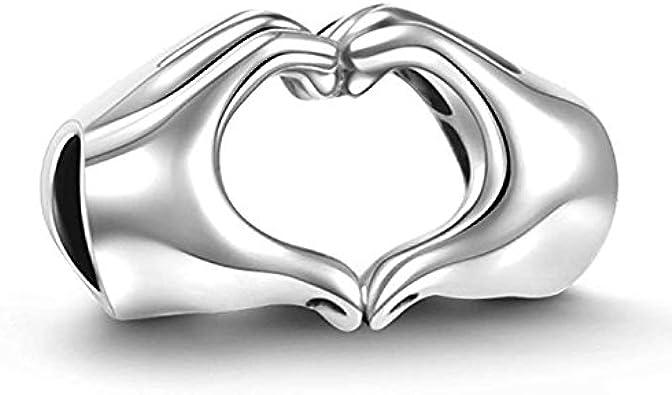 GW Amor Corazón Plata de Ley 925cuenta para pulsera Europea Fit pulseras/collar/mejor regalo para madre/hija/novia/esposa...