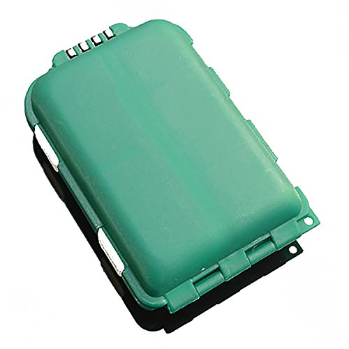 s Waterproof Hard Fishing Tackle Box Case, Hooks Lure Baits Storage Box, Fishing-Accessories Boxes Storage Containers, Plastic-Storage, Green ()