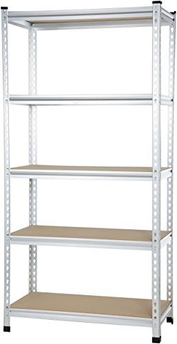 AmazonBasics Medium Duty Shelving Double-Post Press Board Shelf - 36 x 18 x 72 (Medium Duty Shelving)