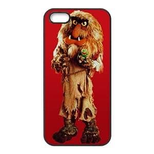 iPhone 5 5s Cell Phone Case Black MUPPETS KERMIT PIGGY FUN rqle