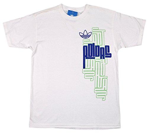 Price comparison product image Adidas Men's Maze T-Shirt Medium White Blue Green