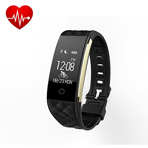 EFOSHM Fitness Tracker Heart Rate, Activiy Tracker,Smart Bracelet with Steps/Calorie Counter,Sleep Monitor Smart Watch IP67 Waterproof for Android/IOS (Black) from EFOSHM