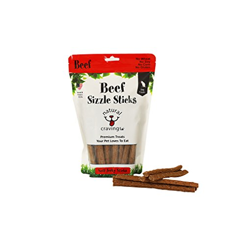 Beef Sizzle Sticks Beef Jerky Dog Treats Product of USA]()