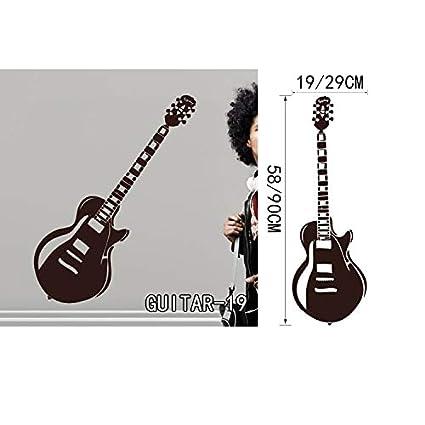 Extreme Rare Ege Musical Wall Sticker Creative Art Guitar Wall Stickers Home Decor DIY Musical Instrument