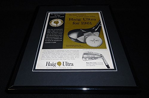 1961 Haig Ultra Golf Clubs 11x14 Framed ORIGINAL Vintage for sale  Delivered anywhere in USA