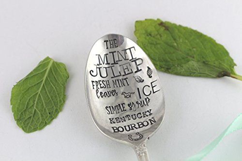 Mint Julep Silver Cocktail Spoon Gift - Custom - Vintage Silverware - Flatware - Derby Gift - Derby Flatware