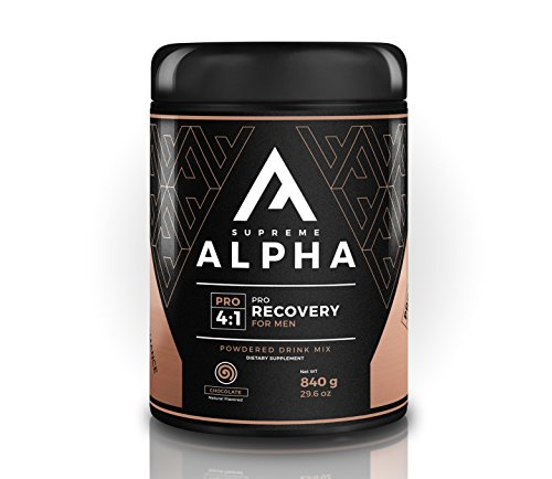 Supreme Alpha PRO Post Workout Recovery for Men | BCAA's, Glutamine, L-Citruline, L-Tryptophan, Vitamin D, | Increases Performance