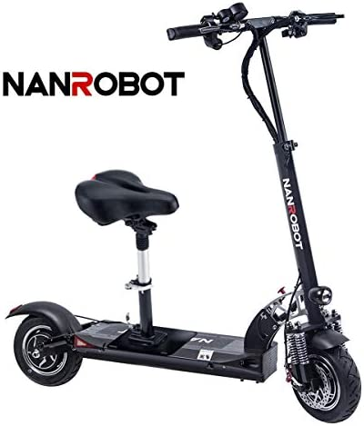 2000W Adult Electric Scooter Lightweight Foldable with 40 Miles Long-Range Battery up to 38 MPH NANROBOT D4