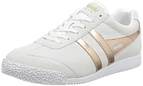 Natural Donna Rose Harrier Bianco Sneaker Mirror Gold Gola 6awX1