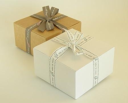 Avalon Craft and Cosmetic Packaging Code#B - Cajas de regalo de cartón, planas, para montar, 25 unidades, cajas de regalo para bombones, joyas, ...