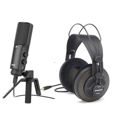 (Rode Microphones NTUSB Versatile Studio-Quality USB Microphone, Cardioid Polar Pattern, - Bundle With Sennheiser HD201 Semicircumaural Dynamic Stereo Headphones)